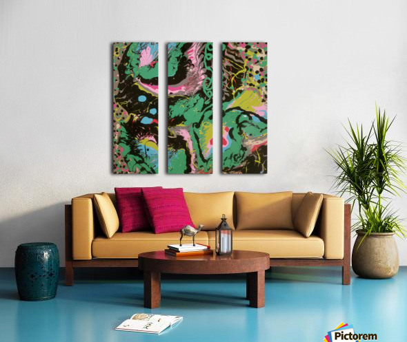 Fantasy Noir Green Split Canvas print
