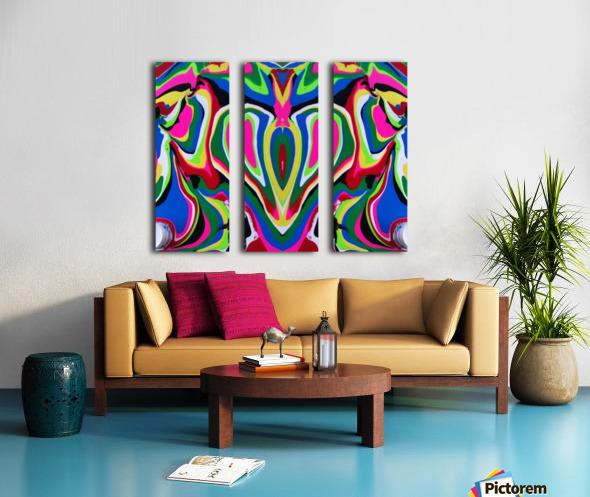 Heart and Soul Split Canvas print