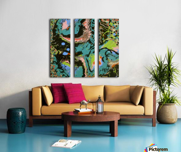 Fantasy Noir Blue Split Canvas print