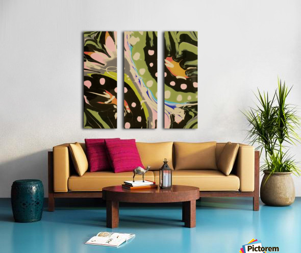 Tropical Branch Bamboo Split Canvas print