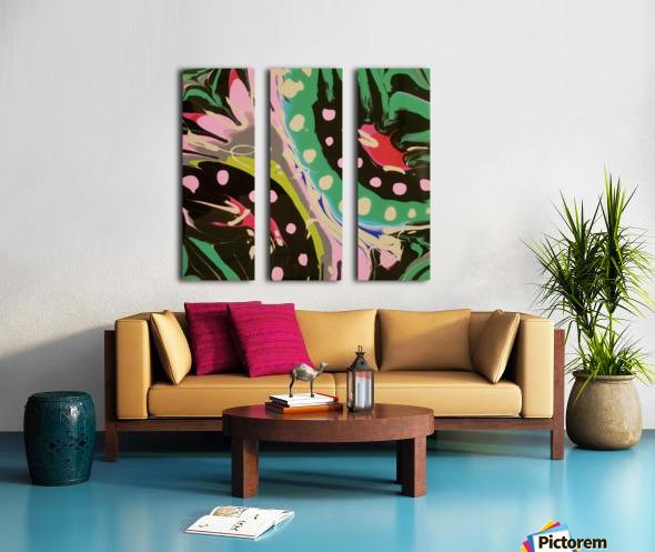 Tropical Branch Jade Split Canvas print