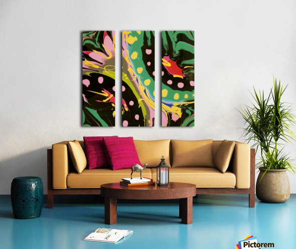 Tropical Branch Split Canvas print
