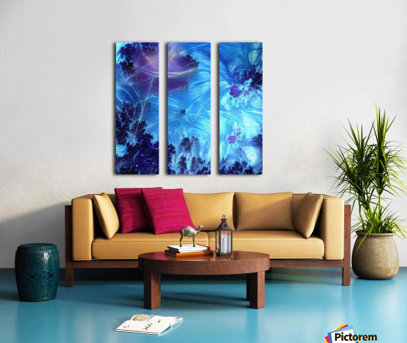 Abstract Blue Colors Split Canvas print