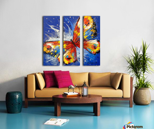 The butterfly Split Canvas print