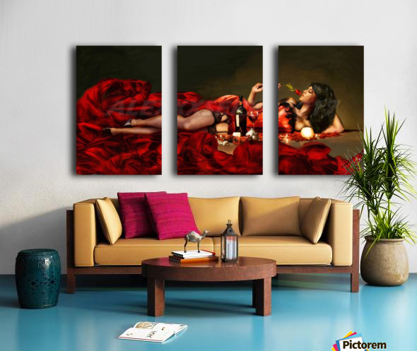Red of the red Split Canvas print