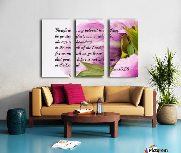 Be ye stedfast Split Canvas print