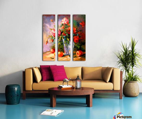 A bouquet of roses Split Canvas print
