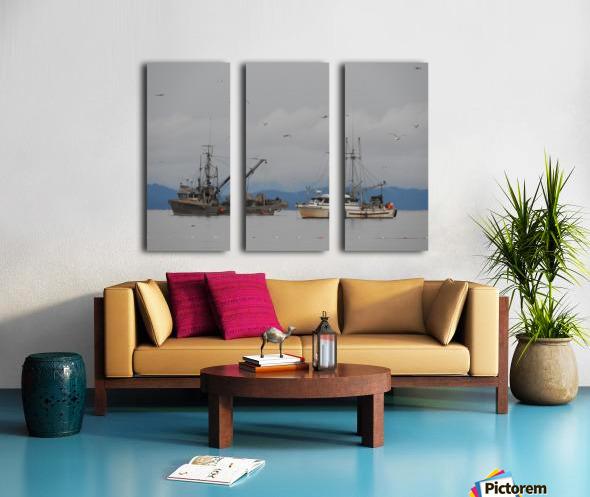 Herring Season Split Canvas print