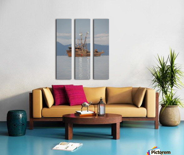Lights on the Water Split Canvas print