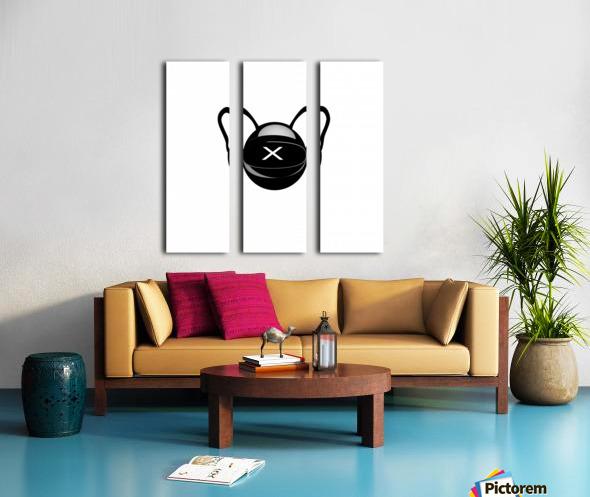 Cozmo Black Split Canvas print