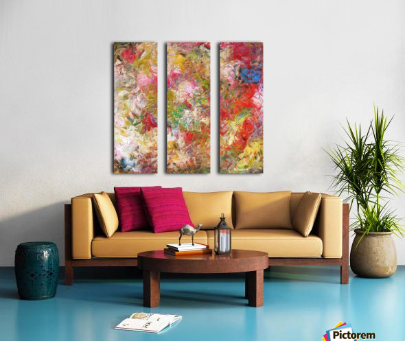 Rocky Feathers Split Canvas print