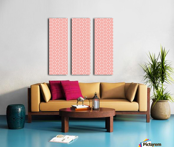 Living Coral Pattern IV Split Canvas print