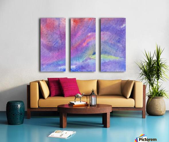 Abstract Mauve wave Split Canvas print