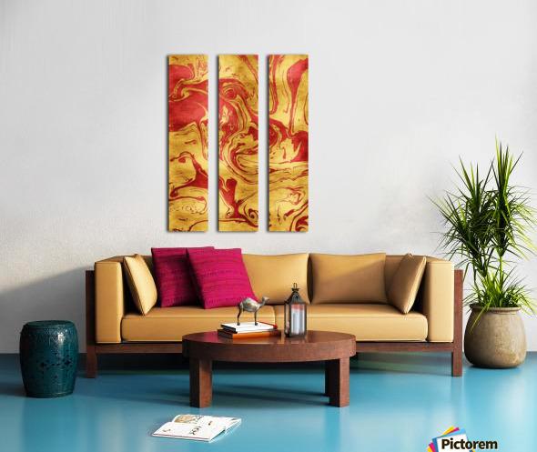 Red Dragon Marble Split Canvas print