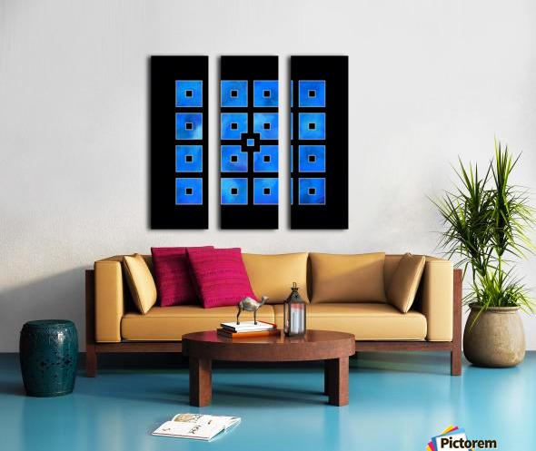 Elora de sous - squares of sea Split Canvas print
