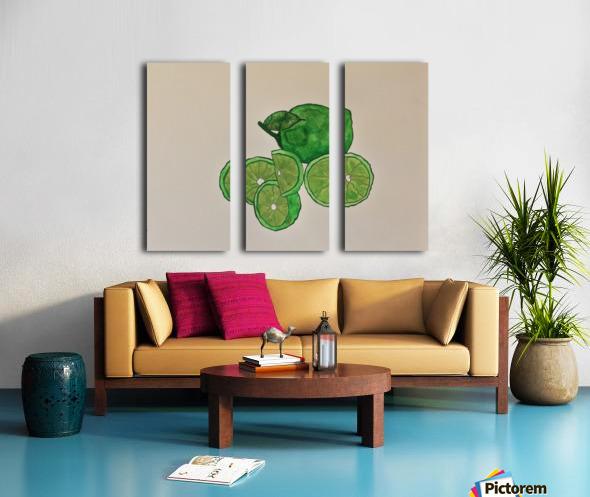 Lime in Szn  Split Canvas print