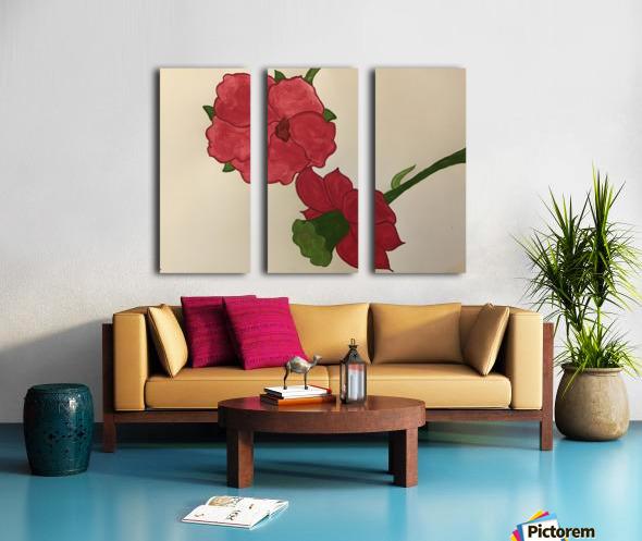 A Floral Dream Split Canvas print