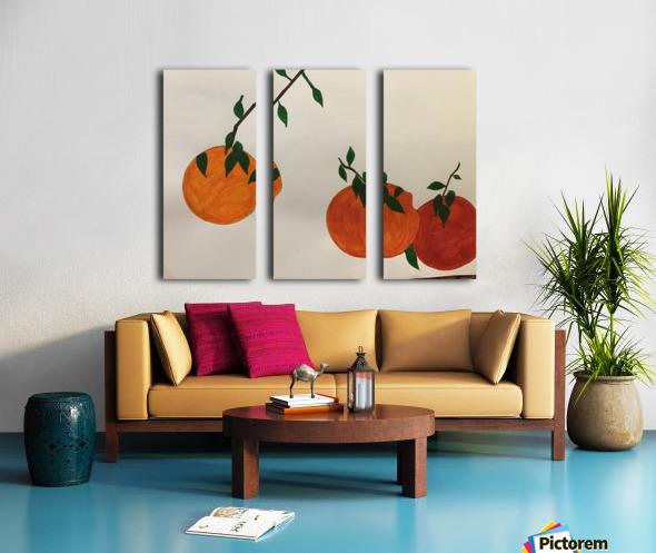 Orange You in Love Split Canvas print