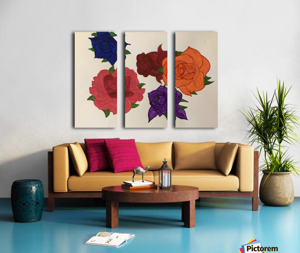 Diversity in Roses Split Canvas print