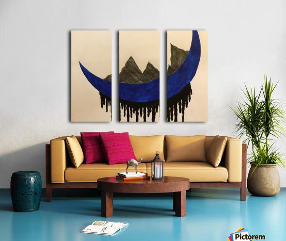 Mountains on the Moon Split Canvas print
