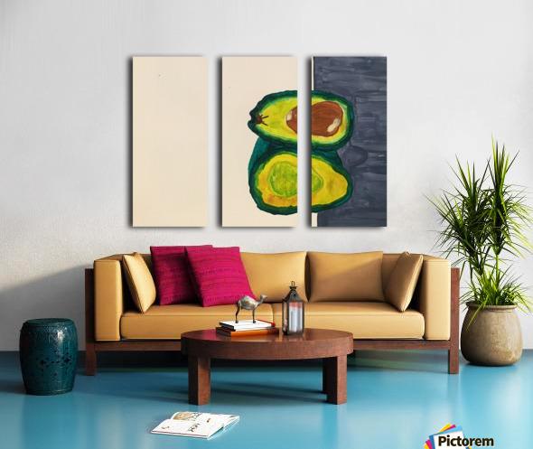 Ripe Avocados Split Canvas print