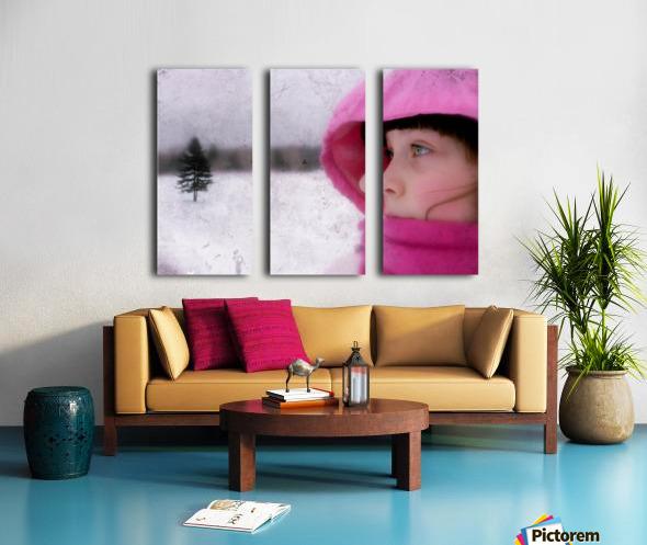 Winter pink Split Canvas print