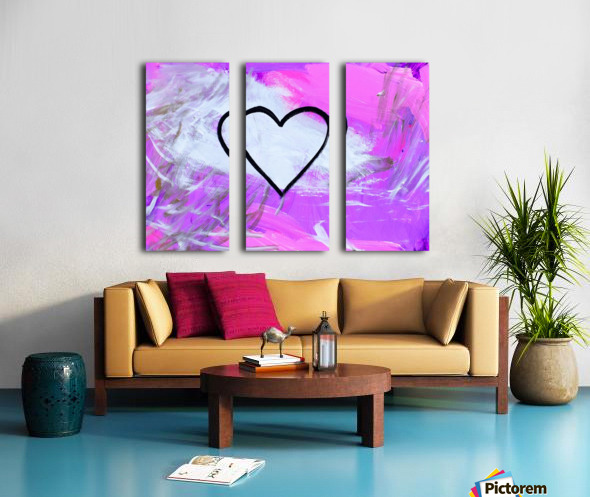 Love is a Feeling. Jessica B Split Canvas print