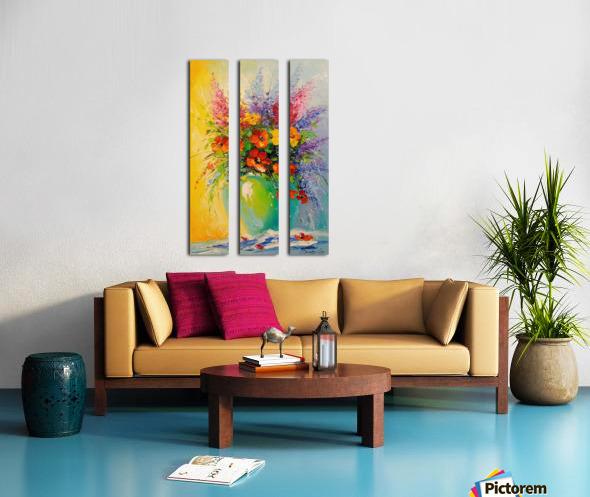 A bouquet of meadow flowers Split Canvas print