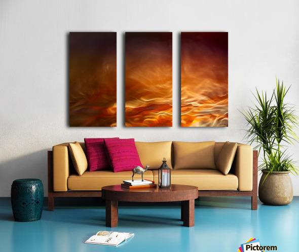 Burning water Split Canvas print