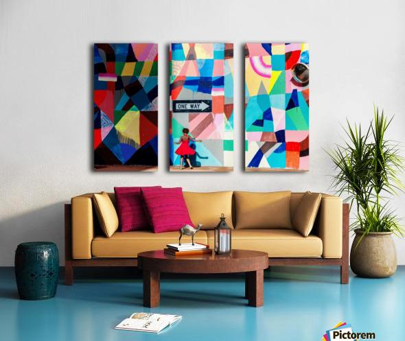 One way Split Canvas print