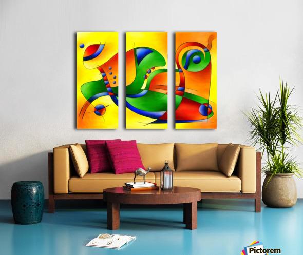 Antaressa - colourful world Split Canvas print