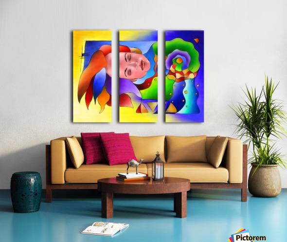 Fasettonia - colourful spirit Split Canvas print