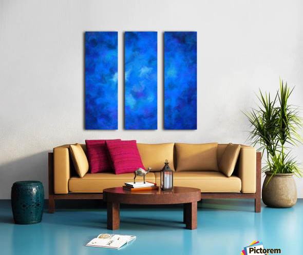 Denitamessa - deep blue world Split Canvas print