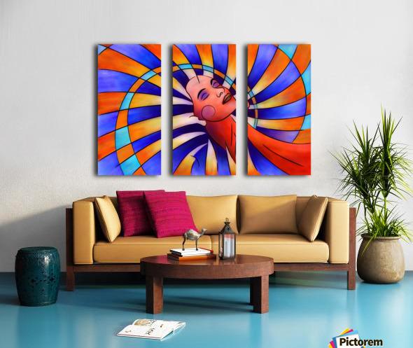 Astronella - beauty star Split Canvas print