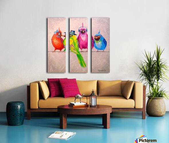 Cheerful company Split Canvas print