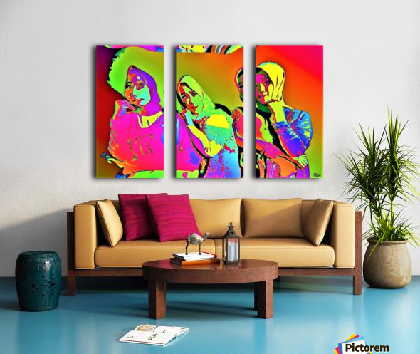 Three Friends - by Neil Gairn Adams Split Canvas print