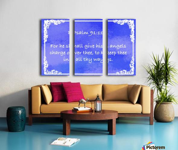 Psalm 91 11 8BL Split Canvas print