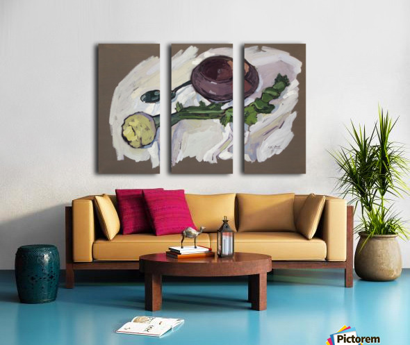 Still Life with Celery Split Canvas print