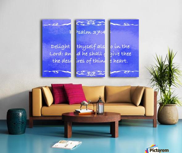 Psalm 37 4 3BL Split Canvas print