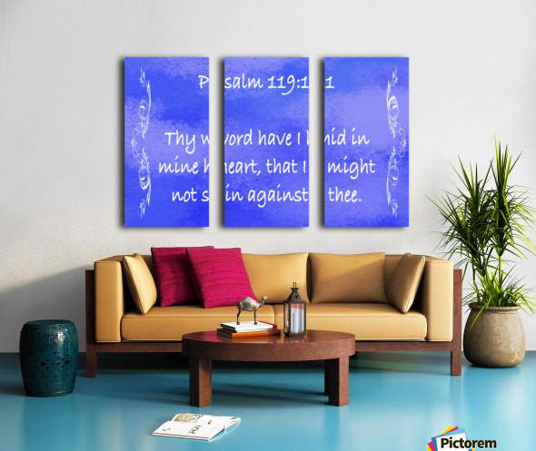 Psalm 119 11 4BL Split Canvas print