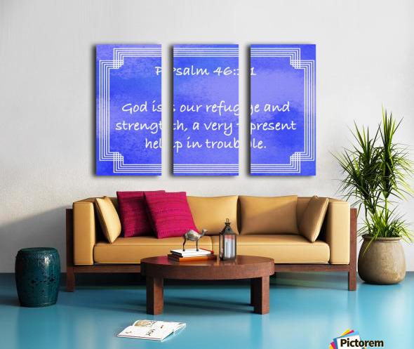 Psalm 46 1 2BL Split Canvas print