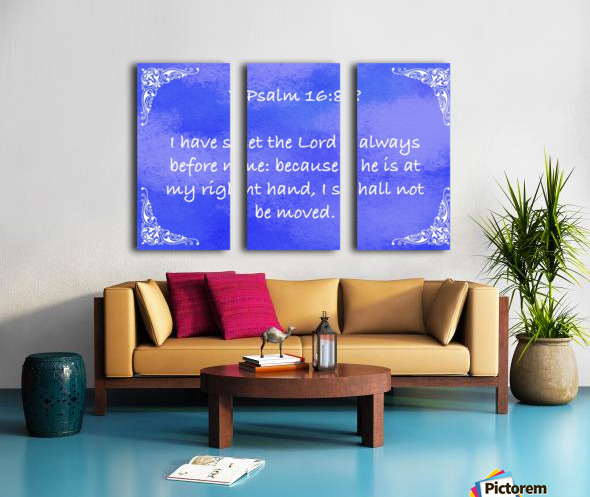 Psalm 16 8 5BL Split Canvas print