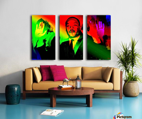 Martin Luther King - Dont Shoot - by Neil Gairn Adams Split Canvas print