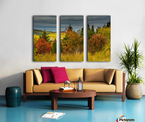 Autumn rainbow Split Canvas print