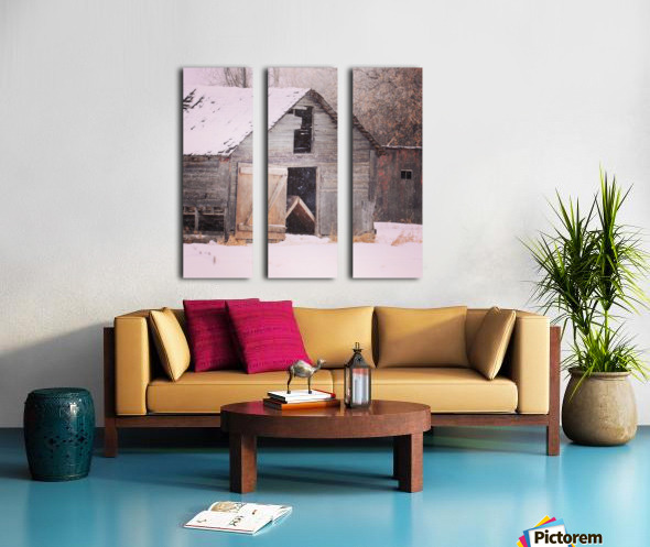 Barnboard Split Canvas print