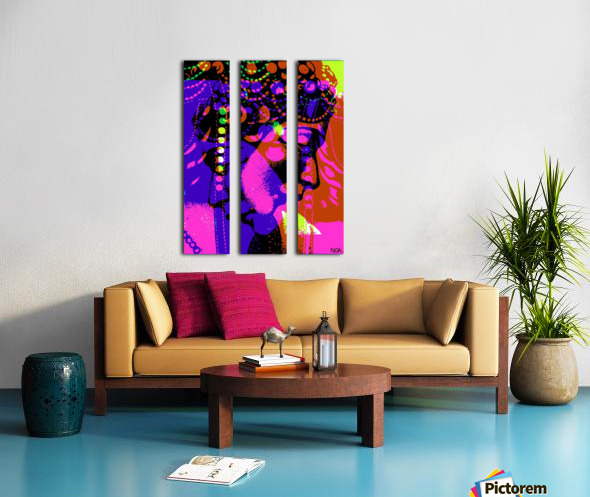 2 Heads are Better than One  -  by Neil Gairn Adams Split Canvas print