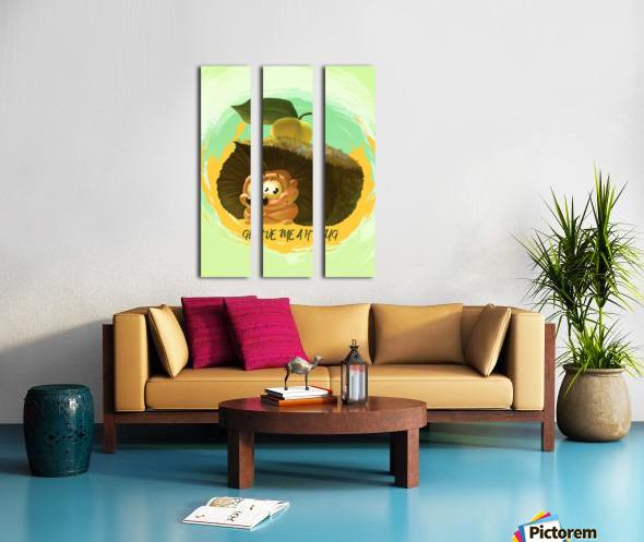 Cute Hedgehog Split Canvas print