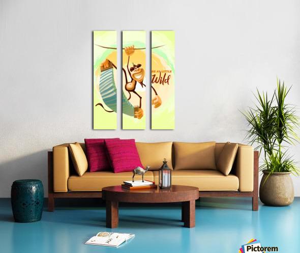 Be a little wild Monkey Split Canvas print
