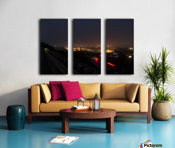 Night Scene from Signal Hill 7 Split Canvas print
