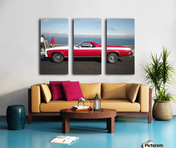 GMC Sprint Utility Pickup coupe combo Split Canvas print